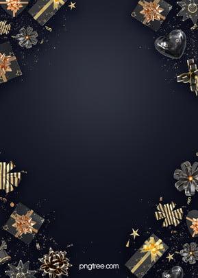 black gold holiday gift box ribbon background , Bow, Gradient, Coloured Ribbon Background image