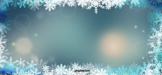 聖誕夢幻藍色環繞光環光斑雪花背景, 光斑, 光環, 夢幻 背景圖片