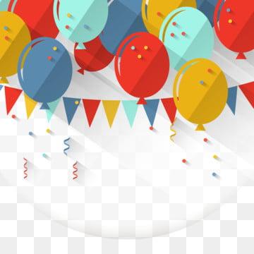 多彩的生日氣球與長長的影子設計背景 , 背景, 生日, 生日背景 背景圖片
