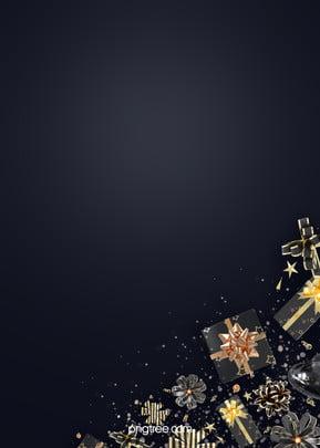 축제 블랙 골드 선물 상자 리본 배경 , 활, 그라데이션, 채색 테이프 배경 이미지