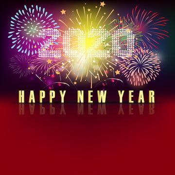 celebração fogo de artifício feliz ano novo chinês 2020 ano do rato , 2020, 2020 Novo Ano, Fundo Imagem de fundo