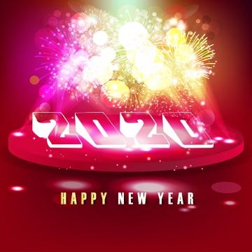 fuegos artificiales feliz año nuevo 2020 celebración , 2020, 2020 Año Nuevo, Antecedentes Imagen de fondo