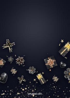 飛舞黑金禮物禮盒彩帶節日背景 , 蝴蝶結, 漸變, 彩帶 背景圖片