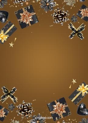 金色漸變黑色禮物背景 , 蝴蝶結, 漸變, 彩帶 背景圖片