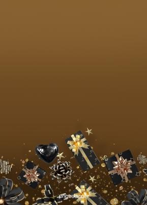 गोल्डन ग्रेडिएंट ब्लैक गिफ्ट रैपिंग बैकग्राउंड , काले सोने, धनुष, ढाल पृष्ठभूमि छवि