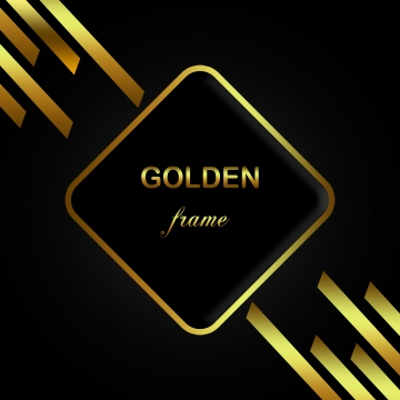 金色閃亮的豪華框架 , 金色的, 奢侈, 閃亮的 背景圖片