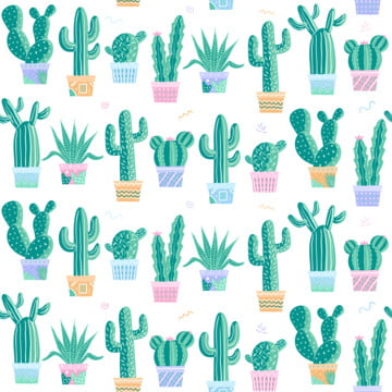 हरी कैक्टस हाथ खींच शैली सहज पैटर्न , कैक्टस, ग्रीन, निर्बाध पृष्ठभूमि छवि