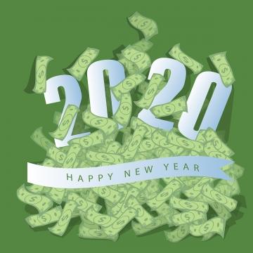 thiết kế font chữ chúc mừng năm mới 2020 , 二千零二十, Năm Mới 2020, Nền Ảnh nền