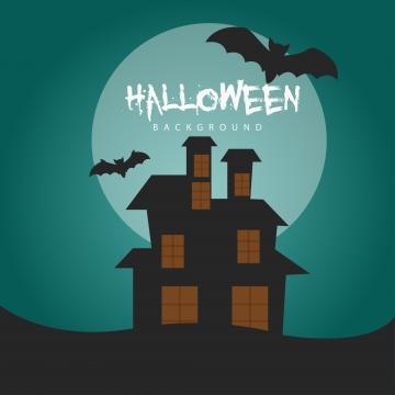 डरावना बल्ले और चाँद के साथ हेलोवीन पृष्ठभूमि वेक्टर , निमंत्रण, पेड़, अक्टूबर पृष्ठभूमि छवि