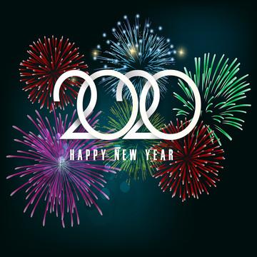 नया साल मुबारक हो 2020 ब्रोशर , 2020 नए साल, पृष्ठभूमि, गेंद पृष्ठभूमि छवि