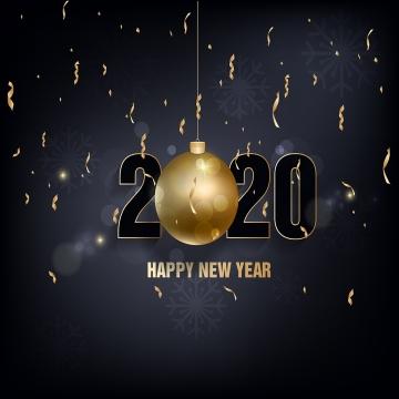 새해 복 많이 받으세요 2020 골든 볼 , 2020년까지, 새로운 1년 전에, 배경 배경 이미지