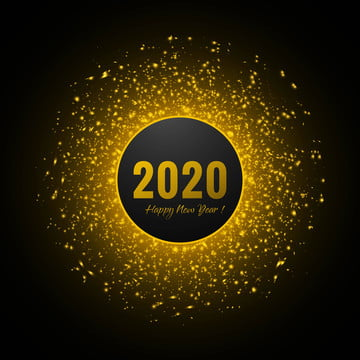 नया साल मुबारक हो 2020 का गोल्डन ग्लिटर बैकग्राउंड , चमक, चमक पृष्ठभूमि, रोशनी पृष्ठभूमि छवि