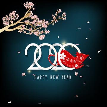 feliz ano novo 2020 feliz natal feliz ano novo chinês 2020 ano do rato , 2020, 2020 Novo Ano, Fundo Imagem de fundo