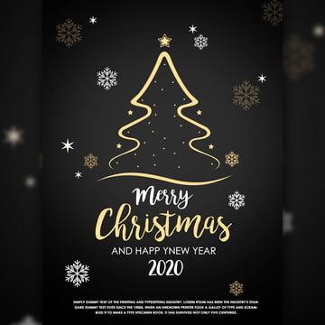 सुंदर काली पृष्ठभूमि और सुनहरे रंग के क्रिसमस ट्री और सितारों में मेरी क्रिसमस उत्सव का पोस्टर , क्रिसमस का दिन उत्सव, मेरी क्रिसमस पोस्टर डिजाइन, काली पृष्ठभूमि में क्रिसमस फ्लायर डिजाइन पृष्ठभूमि छवि