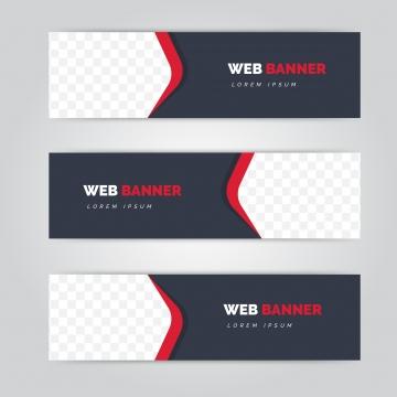 लाल आकार के साथ पेशेवर वेब बैनर , बैनर, व्यापार, सार पृष्ठभूमि छवि