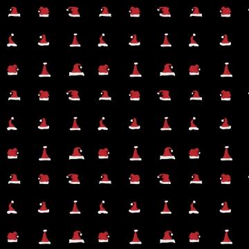 लाल संता क्लॉज हैट पैटर्न बैकग्राउंड का सेट , वर्ष, खुश, मीरा पृष्ठभूमि छवि