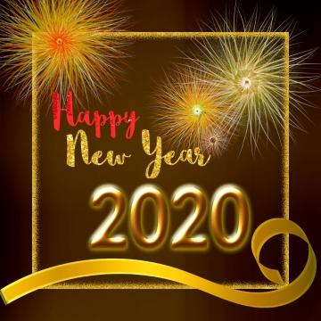 골든 프레임 새해 2020 , 2020년까지, 새해, 새해 복 많이 받으세요 배경 이미지