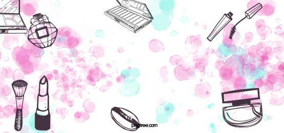 黑色線性化妝品粉藍水彩點墨暈染背景, 化妝品, 線性, 暈染 背景圖片