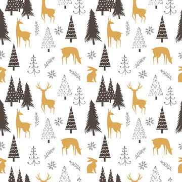 christmas and winter illustration in seamless pattern for decoration and background , Background, Christmas, Christmas Tree Background image