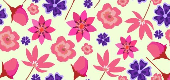장식 꽃 패턴 배경, 모드, 꽃, 각종 배경 이미지