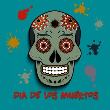 dia de los muertos cráneo diseño de fondo, Antecedentes, Saludo, De Noviembre Imagen de fondo