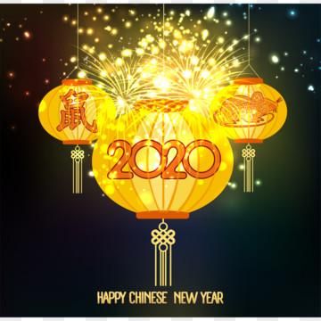 ランタンと光効果翻訳マウスと幸せな中国の旧正月2020背景 , ベクター, ハッピー, シンガポール 背景画像