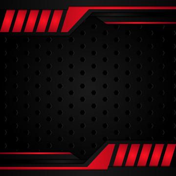 モダンな黒と赤のメタリックな背景 , 抄録, クール, 赤 背景画像