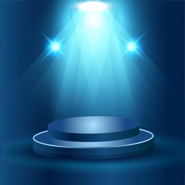 エレガントな雷スポットライトベクターデザインで現実的な舞台の表彰台 , 効果, 照明, スポットライト 背景画像
