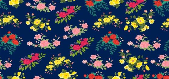 다양 한 로맨틱 꽃 원활한 패턴, 모드, 꽃, 각종 배경 이미지