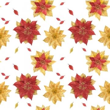 giáng sinh màu đỏ vàng trạng nguyên màu nước hoa văn liền mạch , Giáng Sinh., Chế độ, Phần Của Khối Ảnh nền