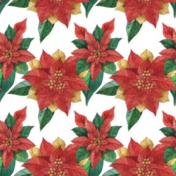 क्रिसमस रेड ग्रीन स्टार पॉइंसेटिया पैटर्न , क्रिसमस, Poinsettia, स्टार पृष्ठभूमि छवि