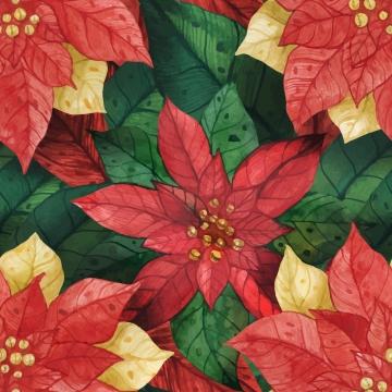 क्रिसमस स्टार पॉइंटसेटिया सीमलेस पैटर्न , क्रिसमस, Poinsettia, स्टार पृष्ठभूमि छवि