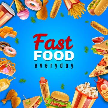 fast food todos os dias fundo , Fast Food, Fast Food Background, Hambúrgueres Imagem de fundo