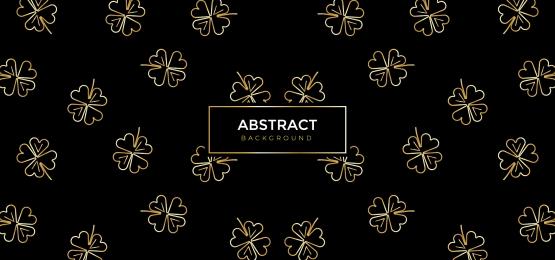 金色花藝橫幅背景, 要素, 裝潢, 森林 背景圖片