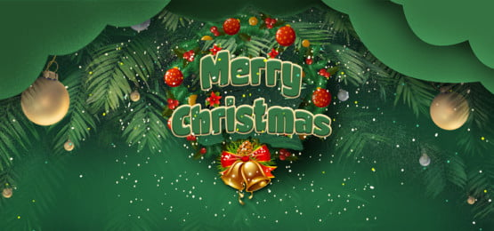merry christmas and laurel wreath in green background, Laurel Wreath, Snowflake, Sparkling Background image