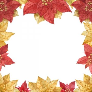 लाल सोना नुकीला फ्रेम , क्रिसमस, Poinsettia, स्टार पृष्ठभूमि छवि