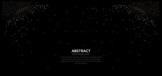 काले रंग की पृष्ठभूमि पर अलग थलग सुनहरा, बैनर, सुरुचिपूर्ण, विंटेज पृष्ठभूमि छवि