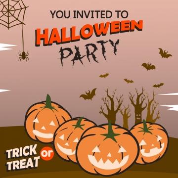 वर्ग हेलोवीन पार्टी का निमंत्रण , कद्दू, जश्न मनाने, अक्टूबर पृष्ठभूमि छवि
