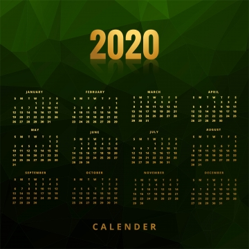 हरी बहुभुज पृष्ठभूमि के साथ 2020 व्यापार कैलेंडर अवधारणा डिजाइन , सार, कैलेंडर, व्यापार पृष्ठभूमि छवि