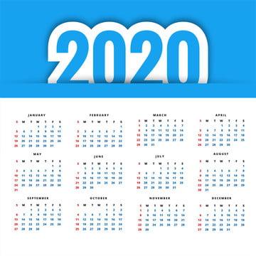 रचनात्मक डिजाइन वेक्टर के साथ 2020 कैलेंडर , सार, कैलेंडर, व्यापार पृष्ठभूमि छवि