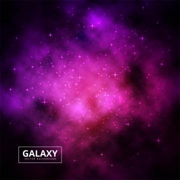 カラフルな輝く銀河の背景を持つ現実的な星空 , 抄録, 背景, 背景 背景画像