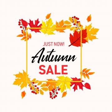 秋の葉ベクターと秋販売バナーの背景 , 旗, 秋, 販売 背景画像