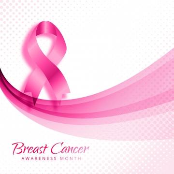 ピンクの波背景ベクトルと乳がん啓発カード , 抄録, 意識, 背景 背景画像