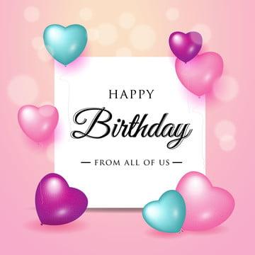 happy birthday celebration typography design for greeting card , Birthday, Happy, Balloon Background image