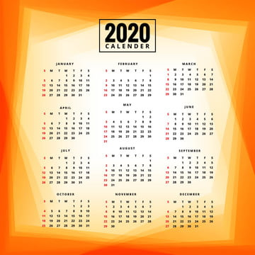 नया साल 2020 कैलेंडर टेम्पलेट रंगीन पृष्ठभूमि , सार, कैलेंडर, व्यापार पृष्ठभूमि छवि