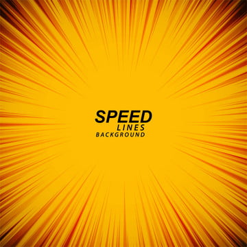 yellow comic speed zoom lines background vector , Speed, Line, Fire Background image