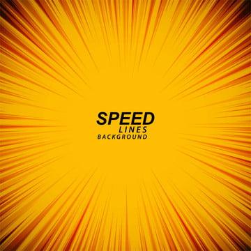 黄色のコミックスピードズームライン背景ベクトル , スピード, ライン, 火 背景画像