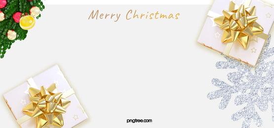크리스마스 축하 화환 하얀 눈송이 선물 배경, Christmas, 백색, 축하하다 배경 이미지