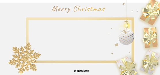 white christmas celebration gift golden square frame background, White, Celebrating, Christmas Background image