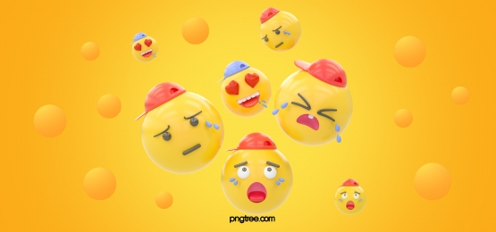 yellow three dimensional sphere group emoji expression background, Stereoscopic, Emoji Expression, Emoticon Background image